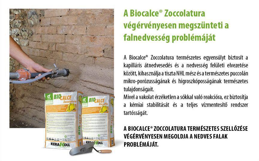 Biocalce Zoccolatura természetes szellőzése